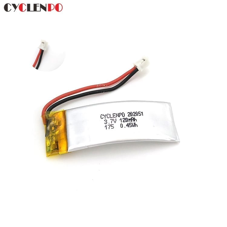 202051 ultra thin Lipo  3.7 volt  120mah lithium polymer battery