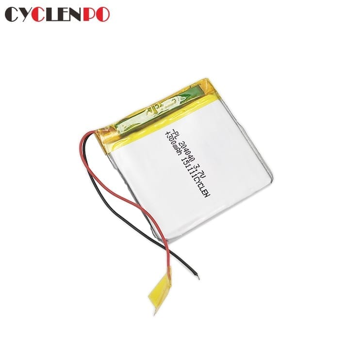 Ultrathin 204040  3.7 volt  300mah lithium polymer battery