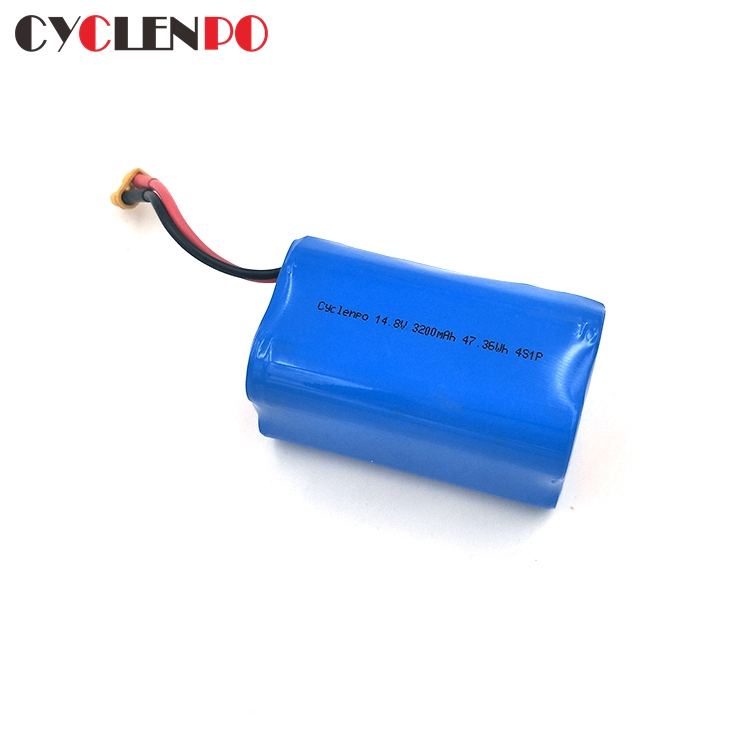 4s1p 18650 14.8v 3200mAh lithium ion battery pack