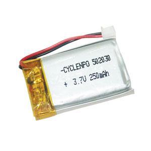 3.7v 250mAh lipo battery