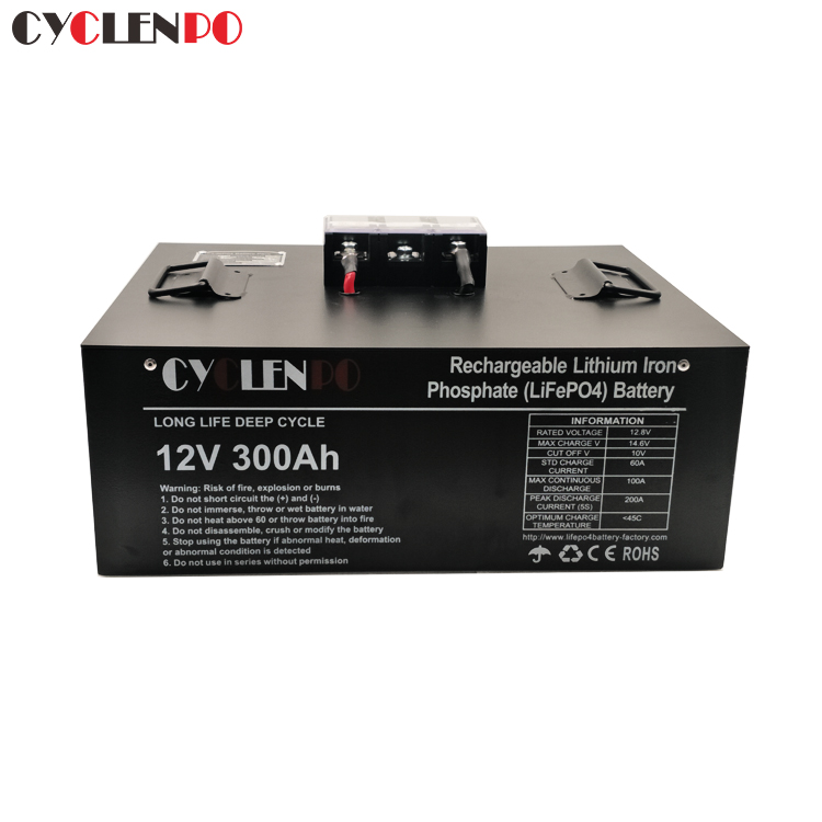 Deep Cycle 12v 300ah Lithium Ion Battery With BMS
