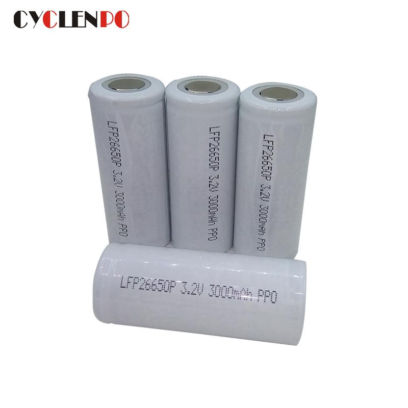 26650 lifepo4 cells 3.2v 3000mah battery