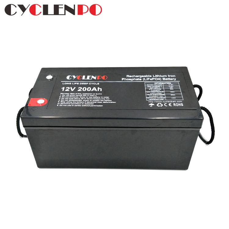 lifepo4 battery 12v 200ah factory