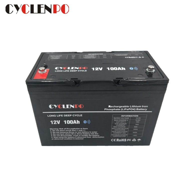 12v 100ah with bluetooth lithium battery