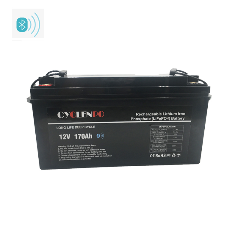 With Bluetooth 170Ah 12v Lithium Deep Cycle Battery