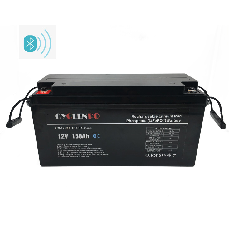 Smart Controlled Lifepo4 Bluetooth 12V 150Ah Battery