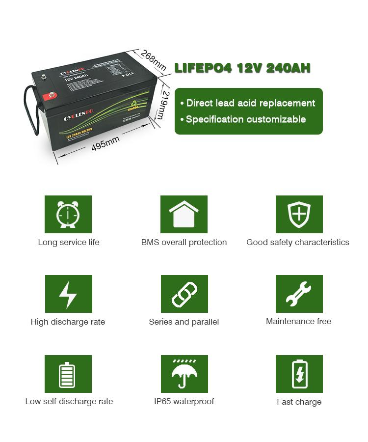 lifepo4 12v 240ah battery