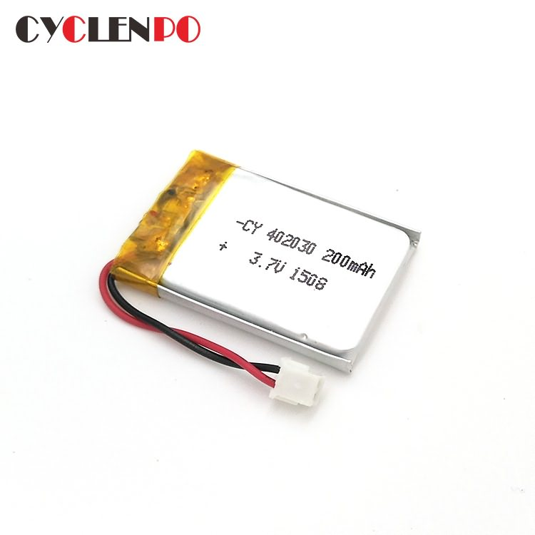 402030  3.7 volt  200mah lithium ion polymer battery