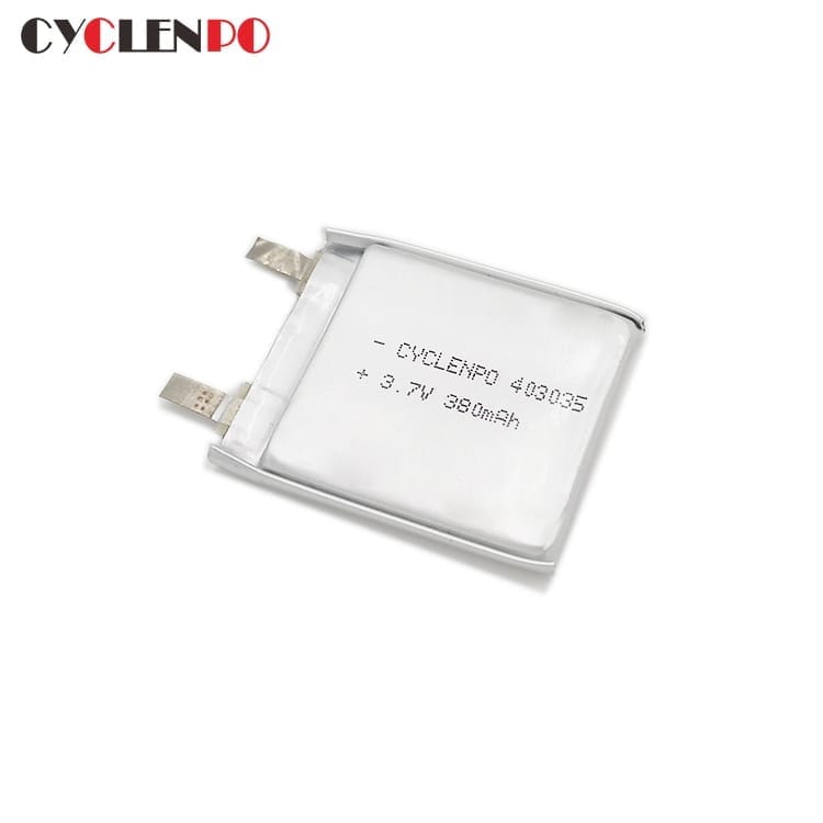 Deep cycle 403035 3.7 volt  380mah lithium ion polymer battery