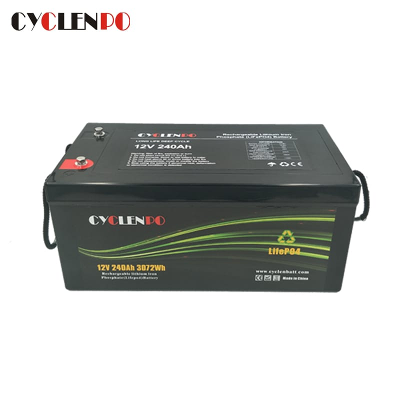 Deep Cycle Lifepo4 12V 240Ah Battery With BMS