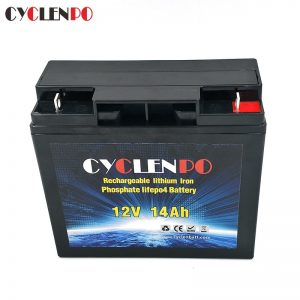 Deep cycle 12v 14ah lithium ion battery for motorcycle battey