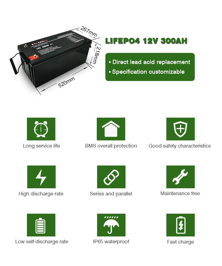 12v 300ah deep cycle battery