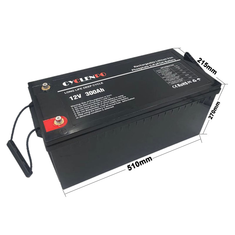 12V Lithium Ion Rechargeable Battery 300Ah