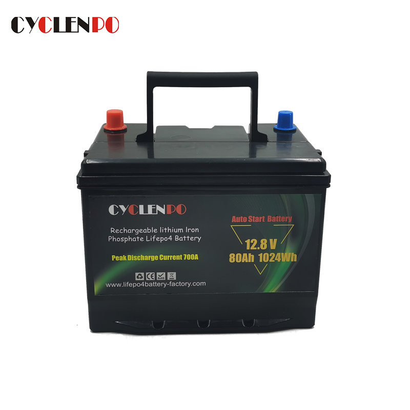 lithium ion car starting battery 80ah