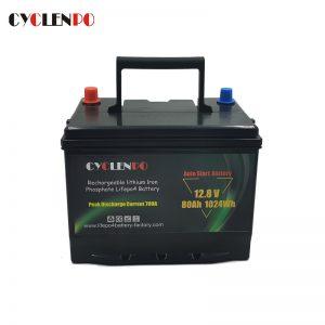 12v 80ah lifepo4 car battery
