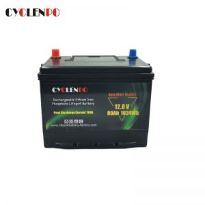 Lithium Ion Car Starting Battery 12V 80AH LiFePO4 Cells With BMS