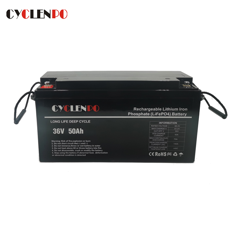 LiFePO4 36V 50Ah Lithium Battery For Marine and EV