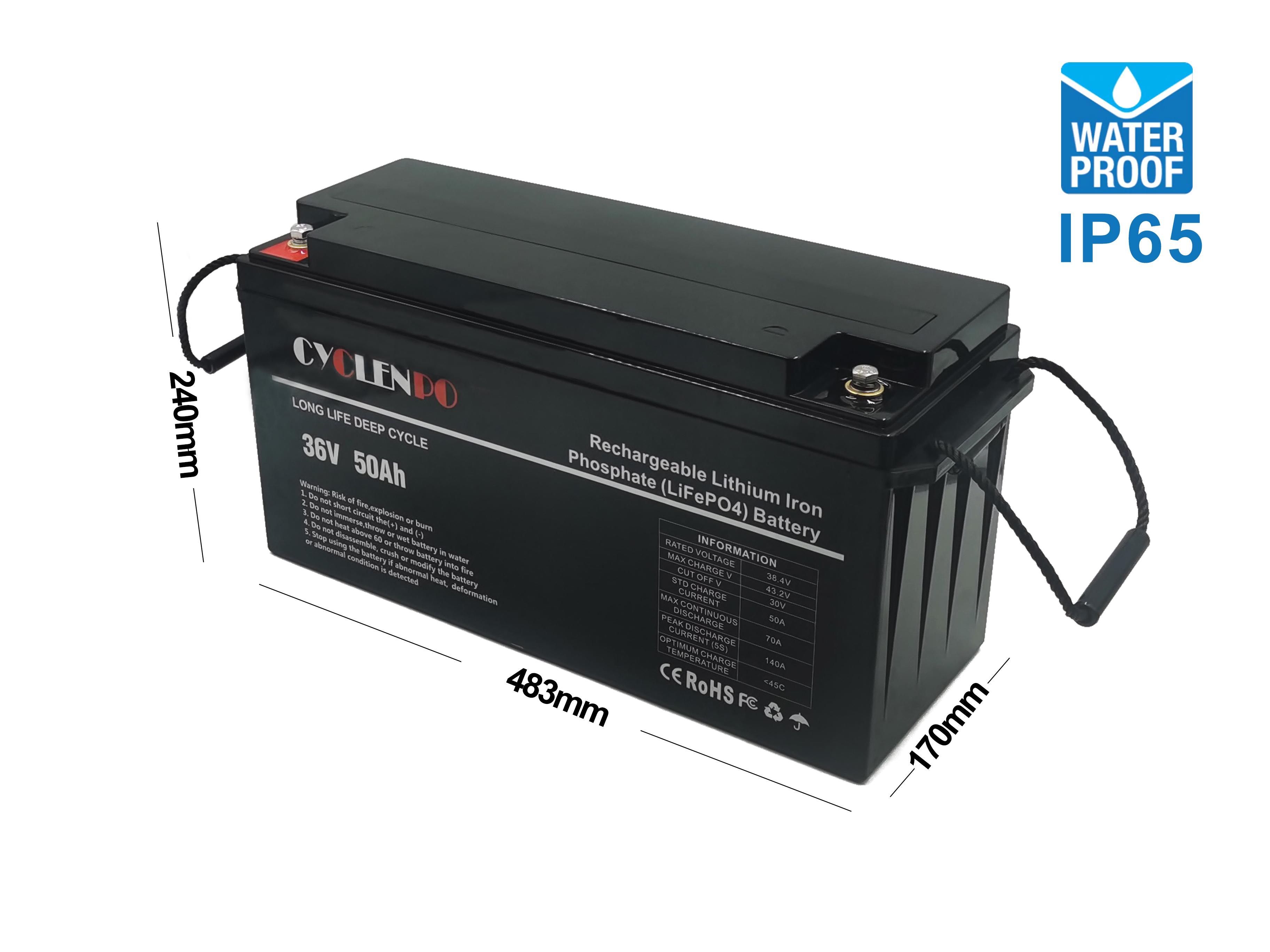 36v 50ah lithium battery