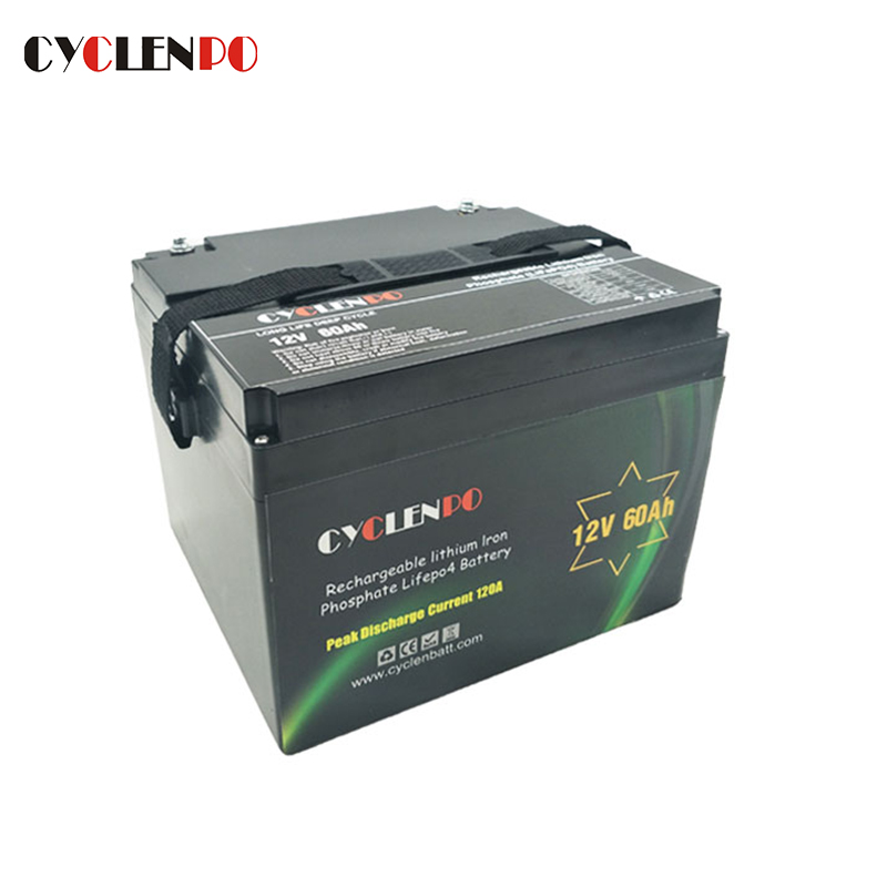 Deep Cycle LiFePO4 12V 60Ah Battery For Power and Solar Storage
