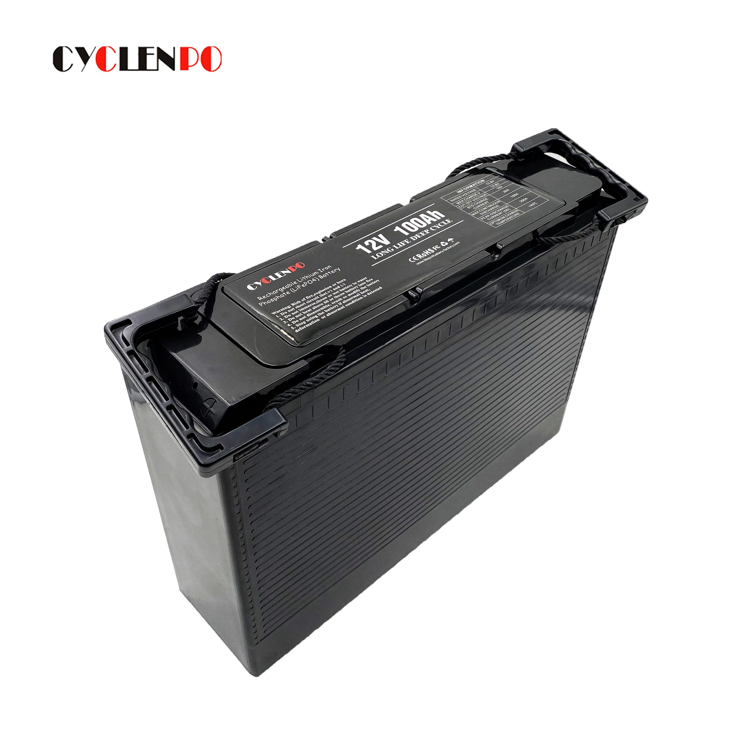 Ultra thin lithium battery pack 12v 100ah deep cycle battery 12v 100ah for vehicle/off road/solar energy system